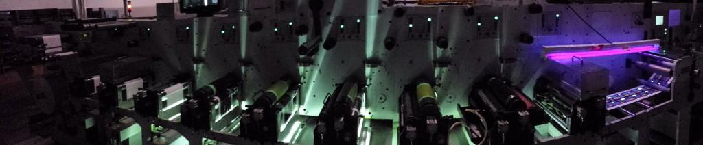 Black-light beer label printing
